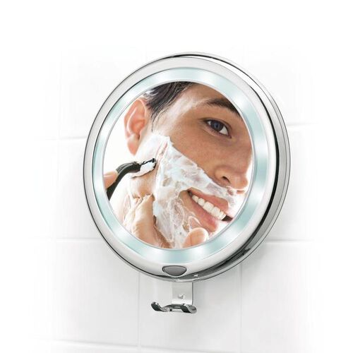 "9"" Lighted, Fogless Shower Mirror"